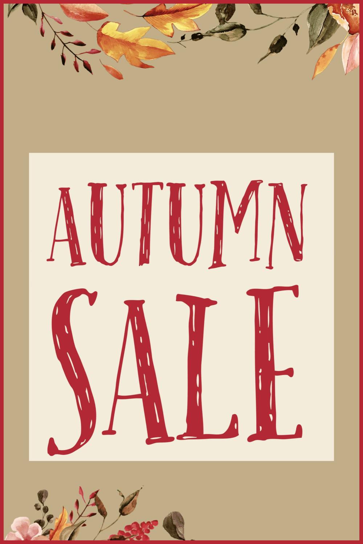 Autumn Sale Promotion Graphics - MasterBundles - Pinterest Collage Image.