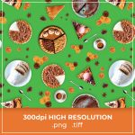 Free Green Food Thanksgiving Pattern cover image.