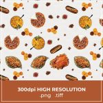 Free Thanksgiving Food Pattern cover image.