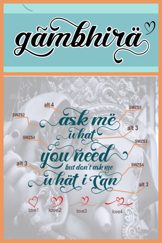 Gambhira Great Display & Typography Font - MasterBundles - Pinterest Collage Image.