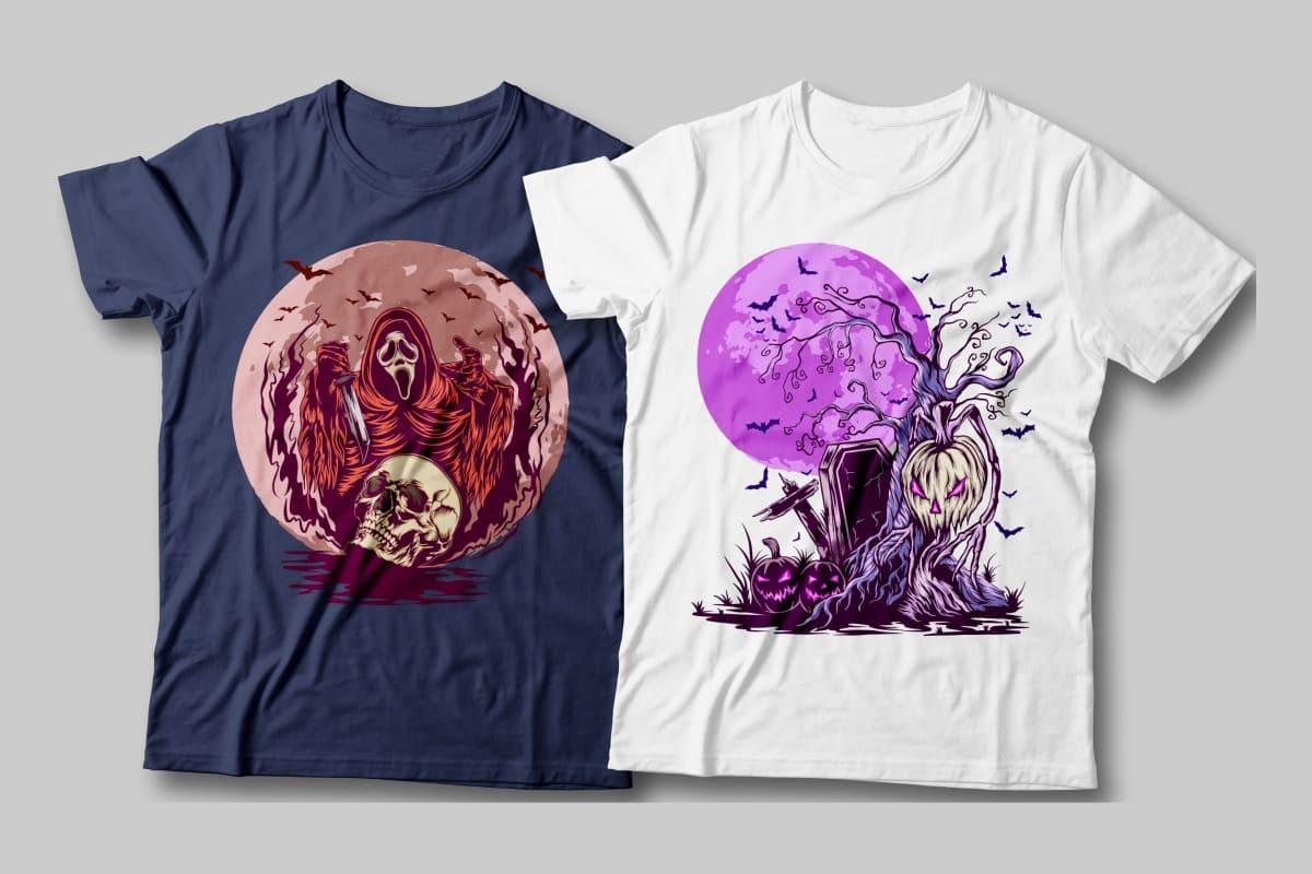 halloween t-shirt purple designs.