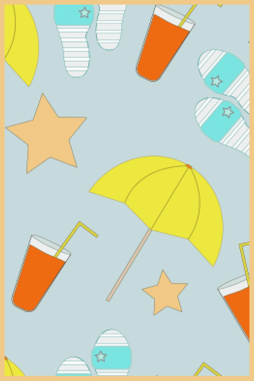 Seamless Summer Pattern - MasterBundles - Pinterest Collage Image.