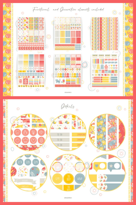 Best Friends – Cats and Birds Planner Stickers - MasterBundles - Pinterest Collage Image.