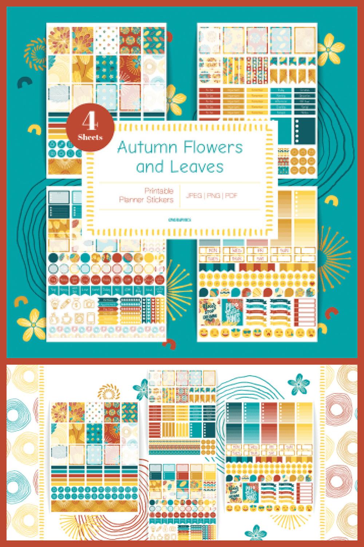Planner Stickers for Erin Condren Vertical - MasterBundles - Pinterest Collage Image.