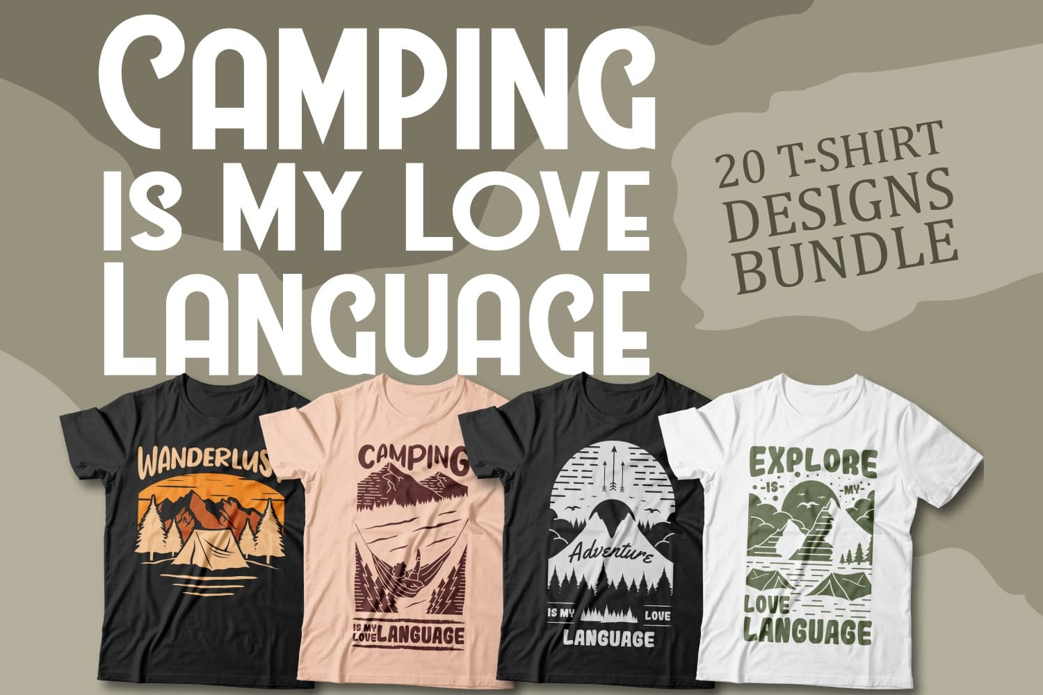 Camping is My Love Language T-shirt Cover.