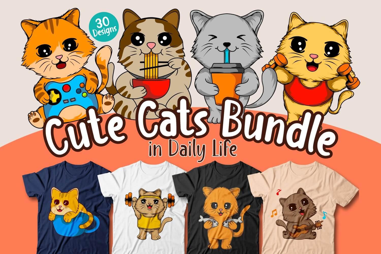 Cute Cats bundle Cover