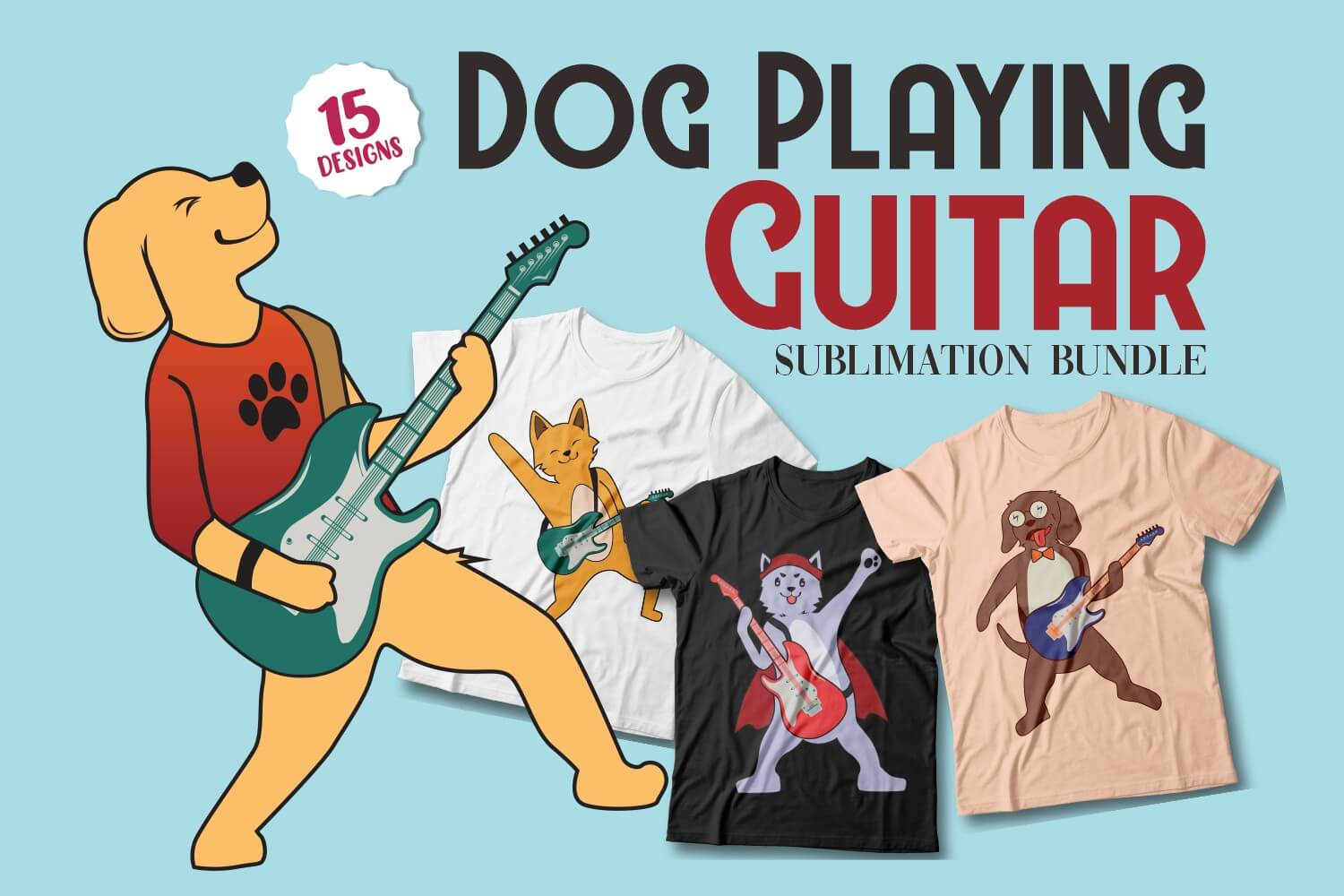 Dog Playing Guitar Cover