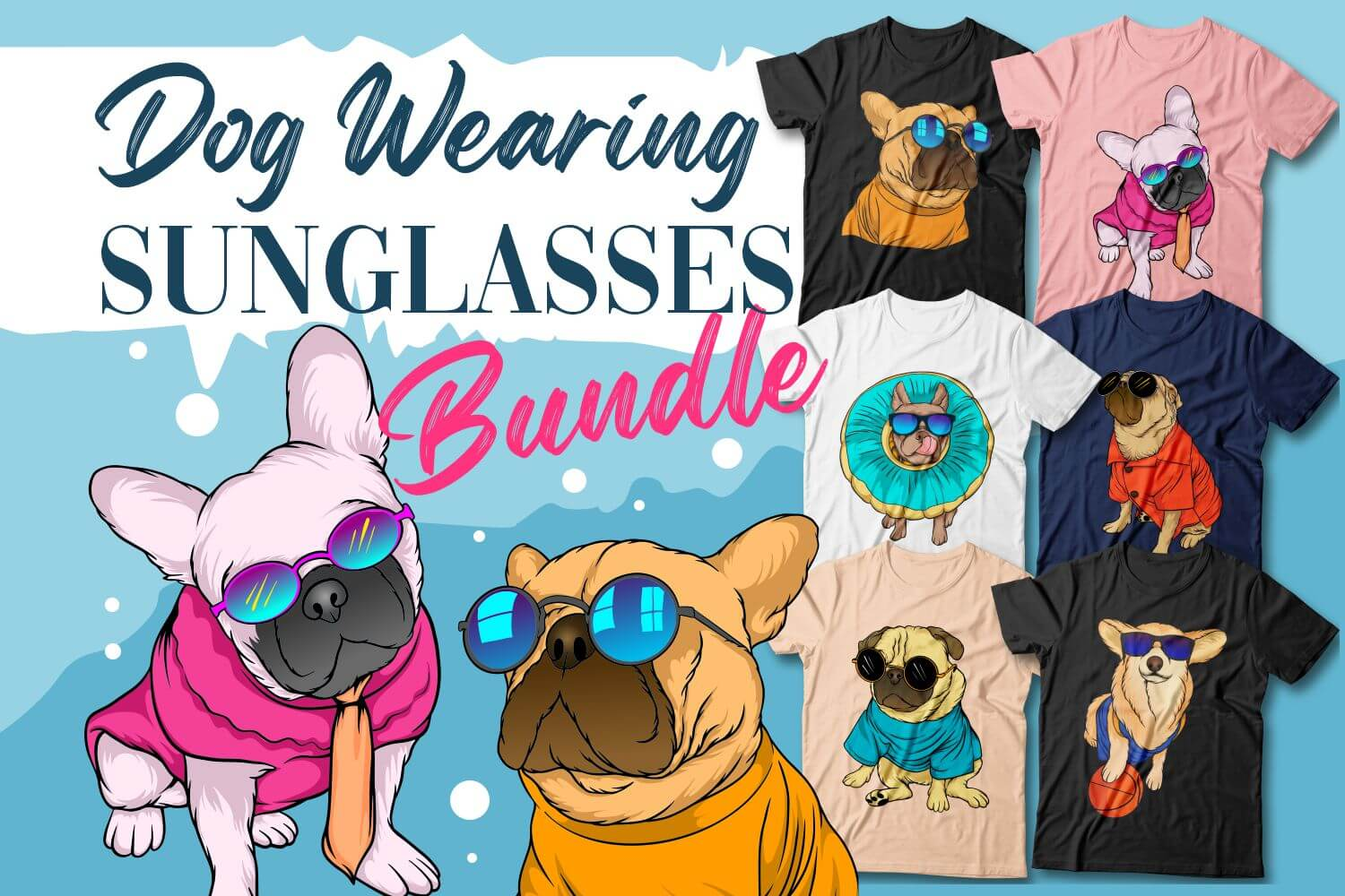 Dog Wearing Sunglasses Cover