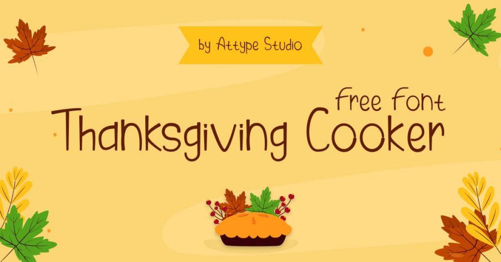 MasterBundles Facebook Collage Image Thanksgiving Cooker Free Font.