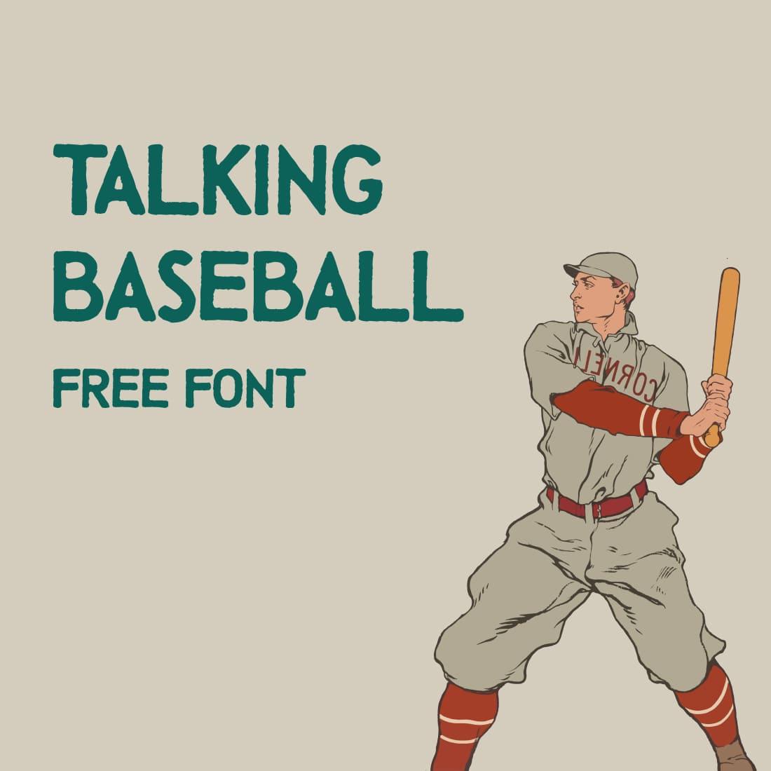 Free Baseball Font Main Preview Image by MasterBundles.