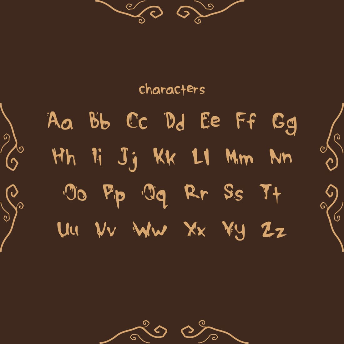 MasterBundles Free Drippy Font Cover with Characters.