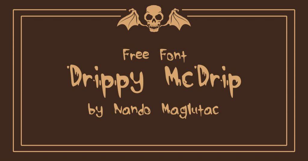 Free Drippy Font Facebook Collage Image by MasterBundles.