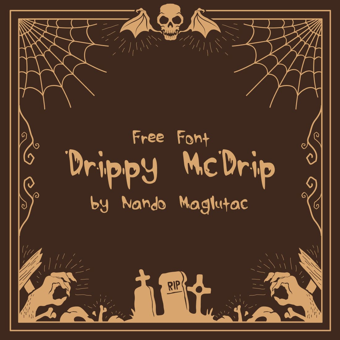 Free Drippy Font Main Scary Cover by MasterBundles.
