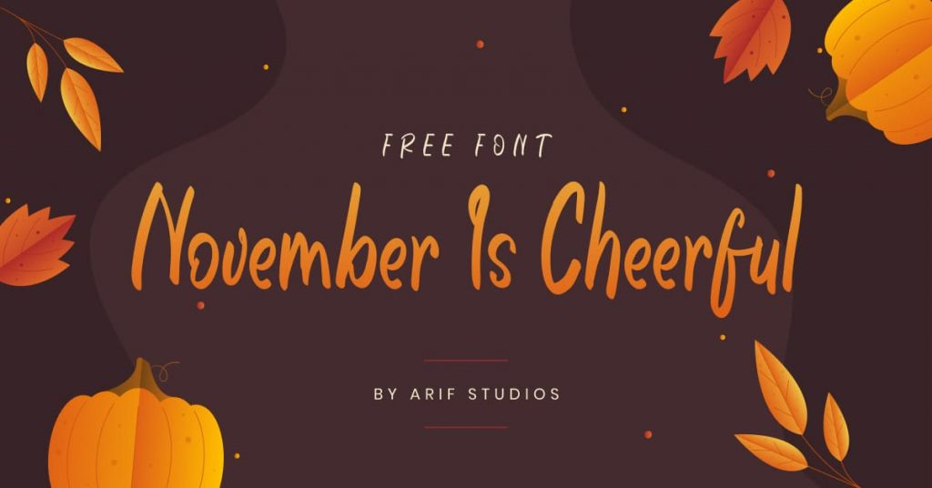 Free Font November Is Cheerful Facebook Collage Image by MasterBundles.