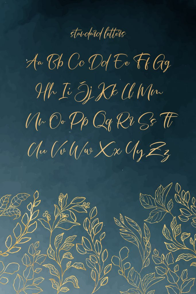 MasterBundles Free French Font Alphabet Pinterest Preview.
