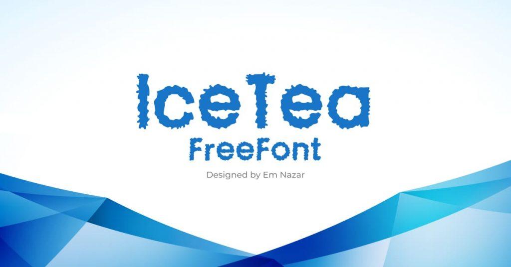 Free Ice Font Facebook Collage Image by MasterBundles.