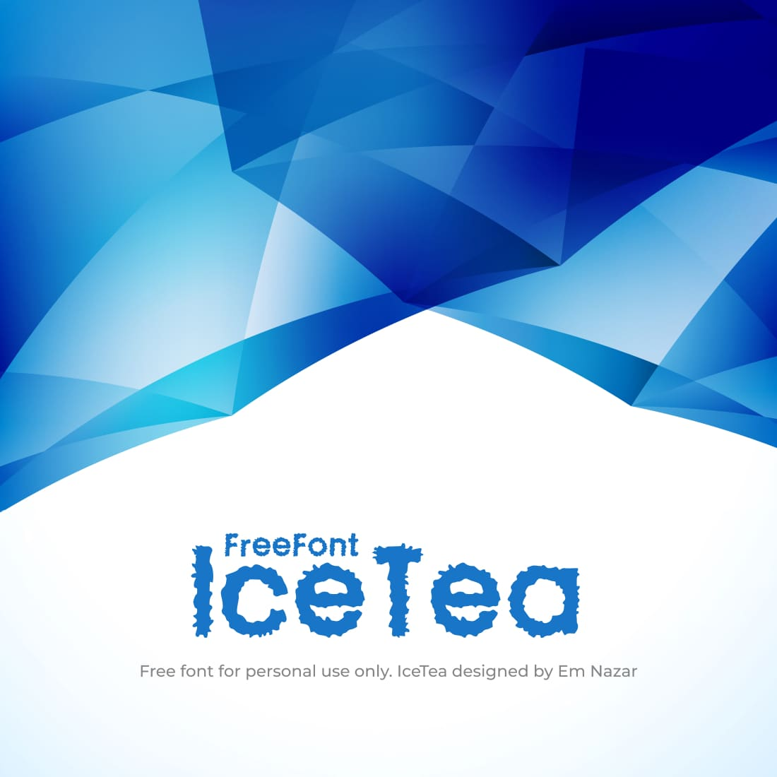Free Ice Font Main Cover by MasterBundles.