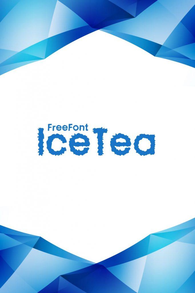 MasterBundles Free Ice Font Pinterest Collage Image.