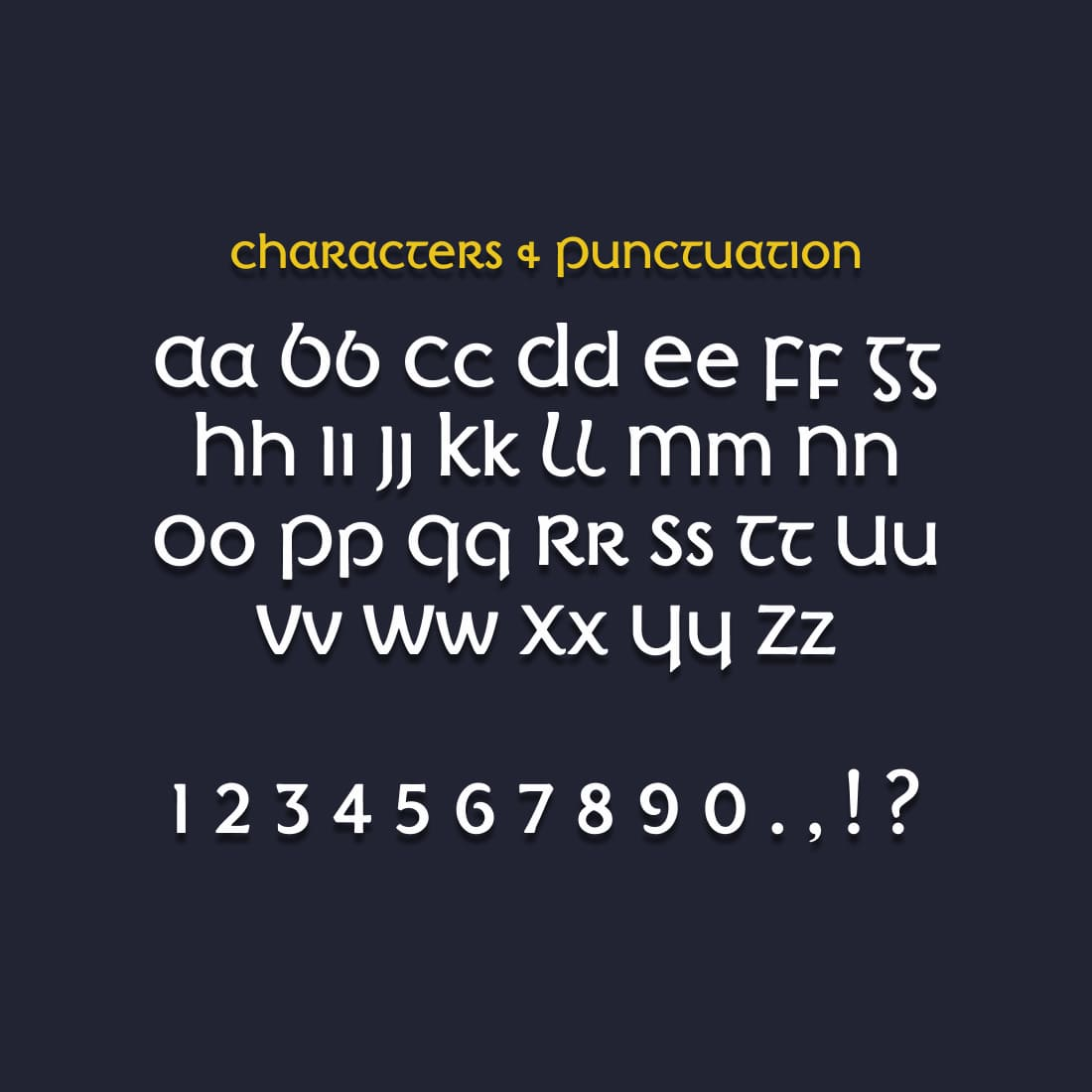 Free Irish Font Cover with Alphabet.