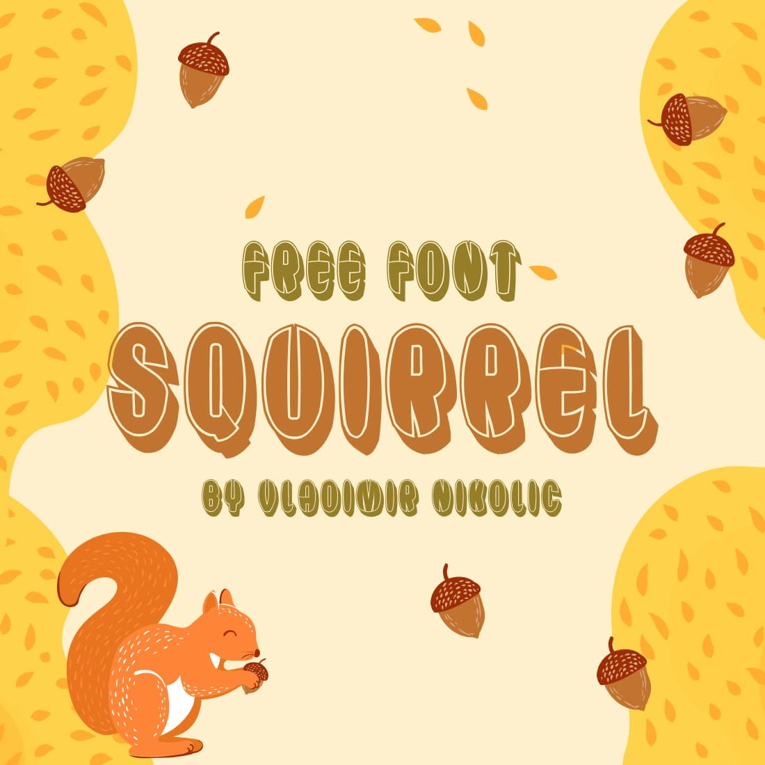 Free Squirrel Font Main Collage Image.