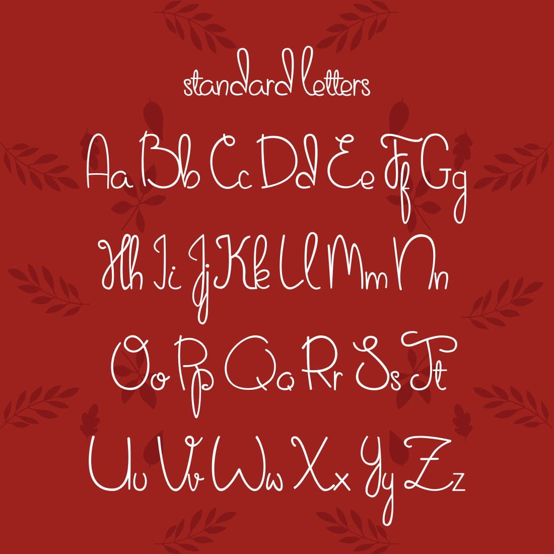 Free Thanksgiving Font Sweet November Letters Preview by MasterBundles.