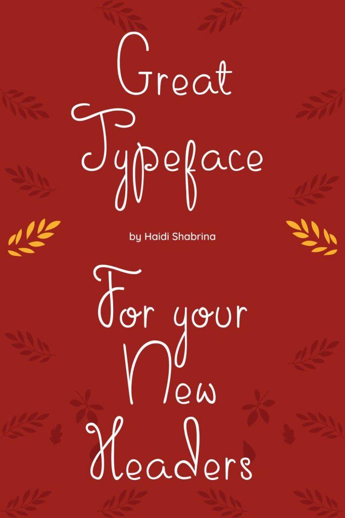 Free Thanksgiving Font Sweet November Red Pinterest Collage Image by MasterBundles.