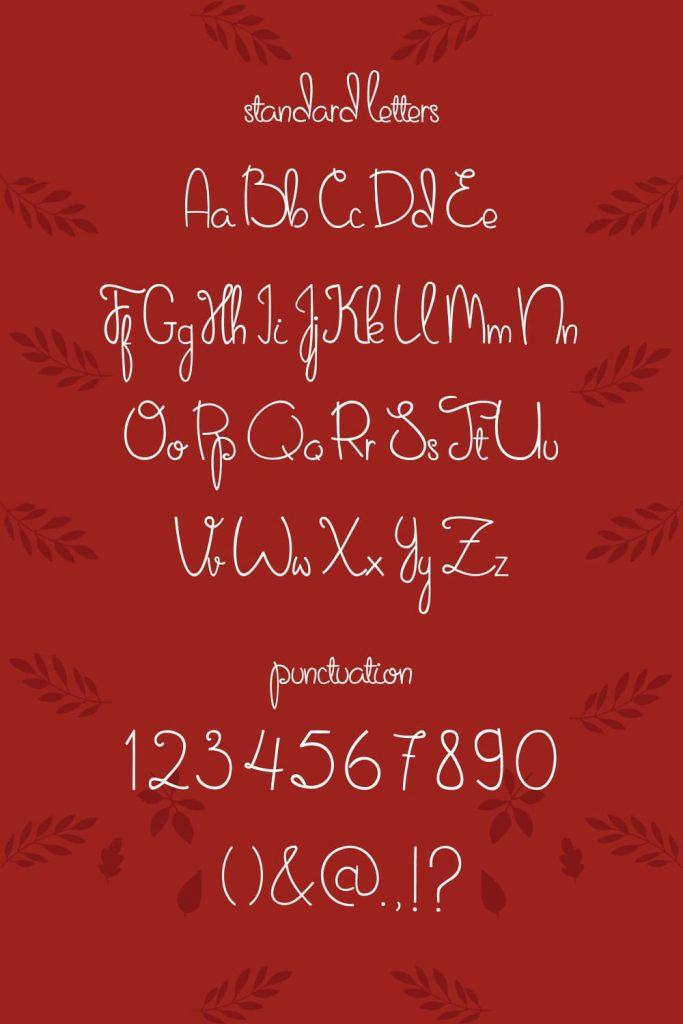 Free Thanksgiving Font Sweet November Pinterest Alphabet and Punctuation.