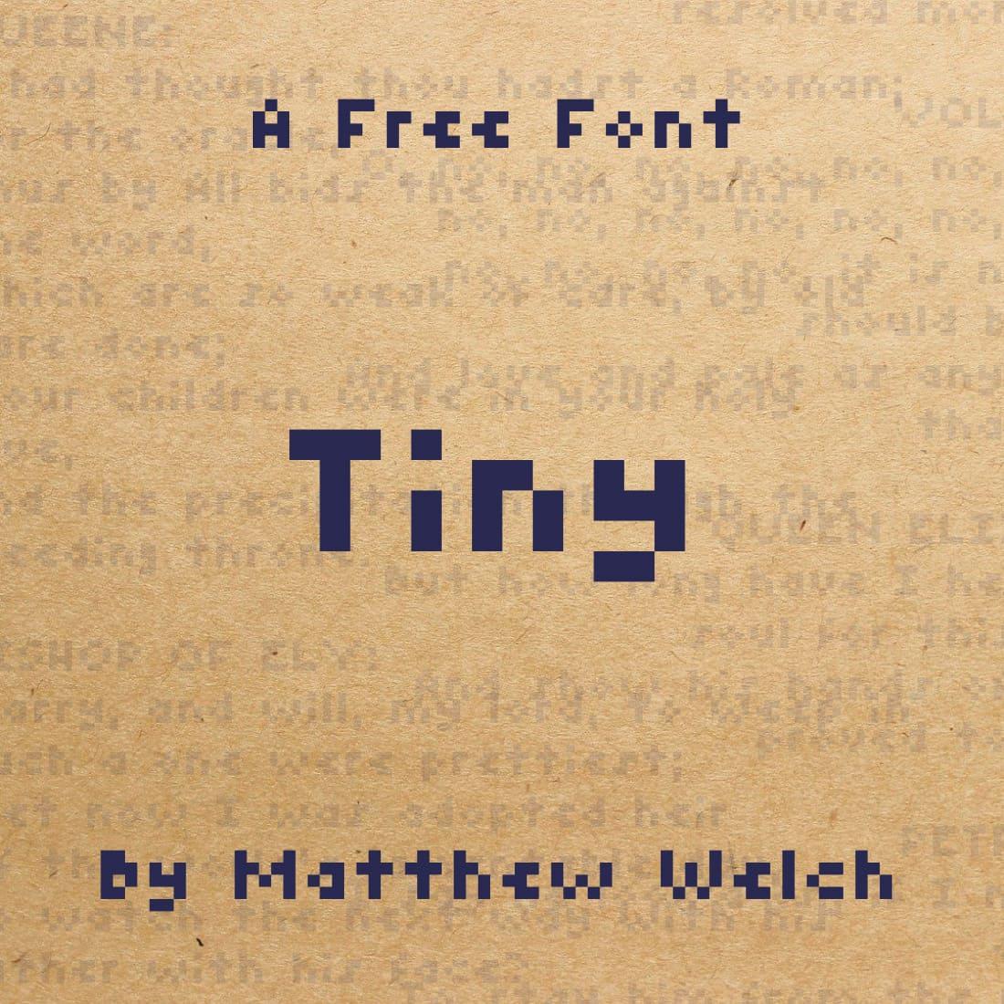 MasterBundles Free Tiny Font Main Cover.