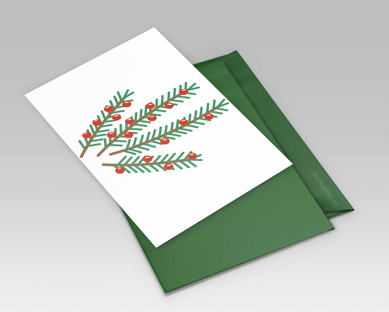 Christmas Twigs Vector Set mockup.