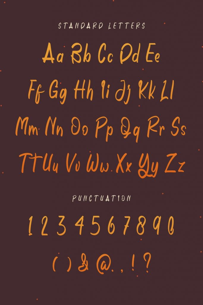 MasterBundles Pinterest Preview with Free Font November Is Cheerful Letters and Punctuation.