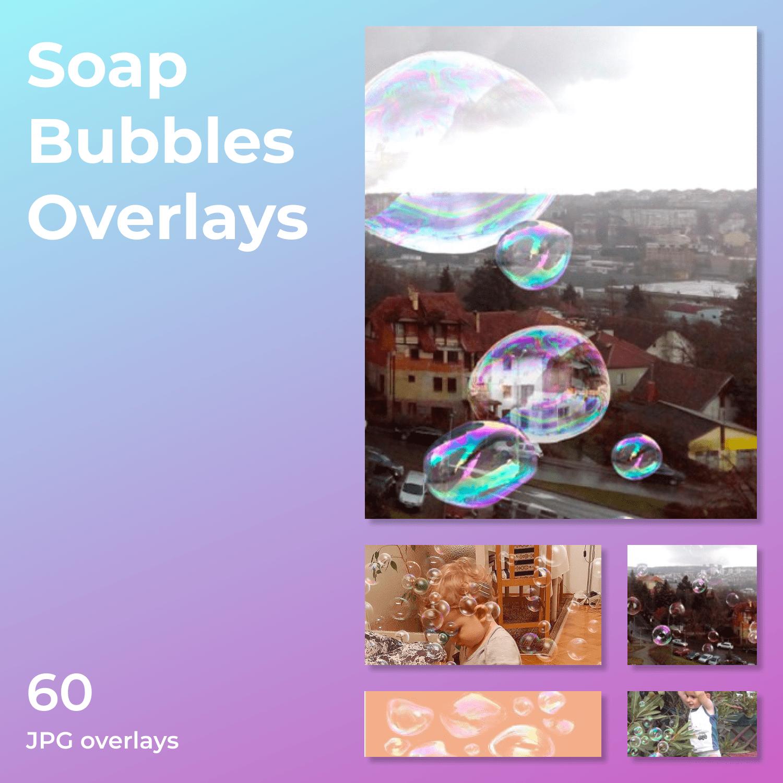 Soap Bubbles Overlays by MasterBundles Collage Image.