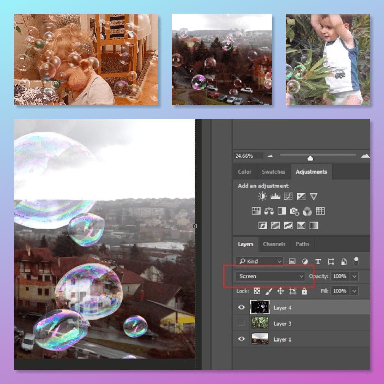 Soap Bubbles Overlays by MasterBundles.