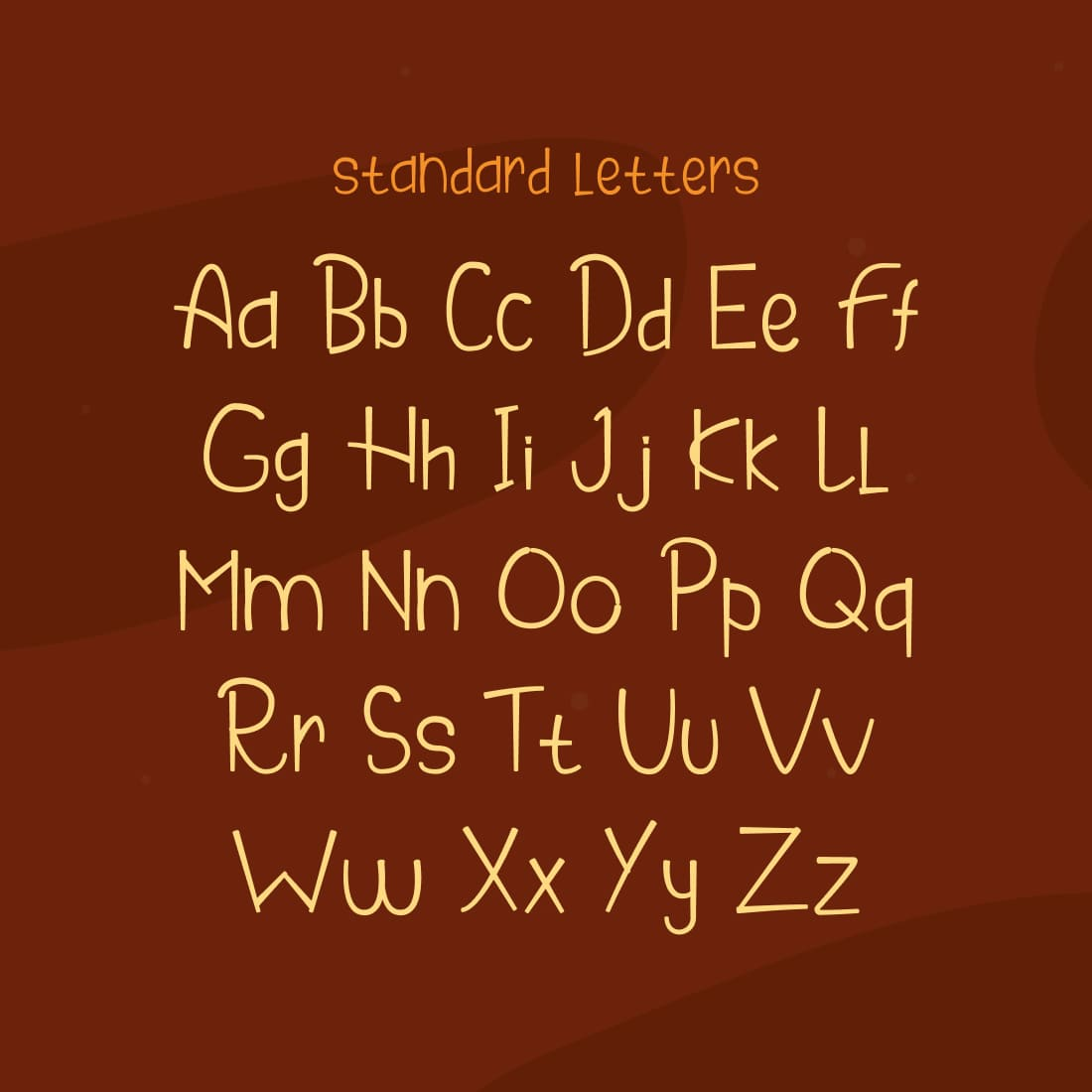 MasterBundles Thanksgiving Cooker Free Font Cover with Alphabet.