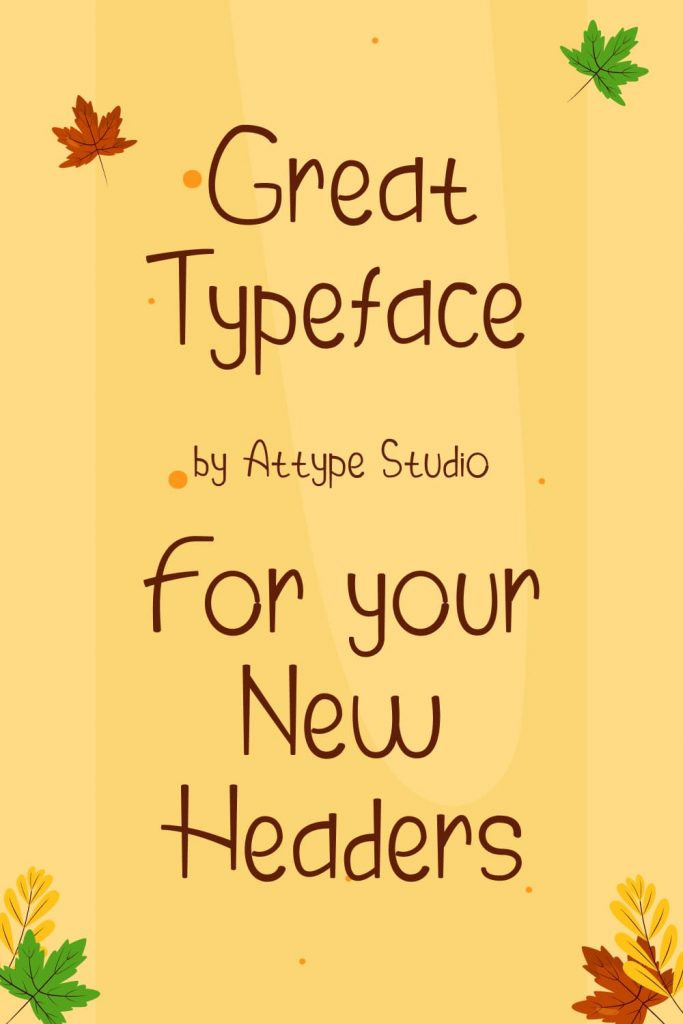 Autumn Pinterest Preview for Thanksgiving Cooker Free Font.