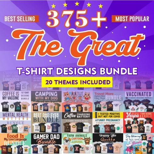 The Great T-shirt Designs Bundle cover image.