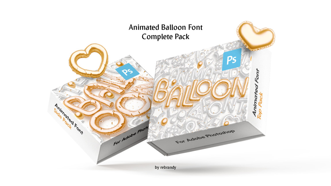 Animated Balloon Font facebook images.