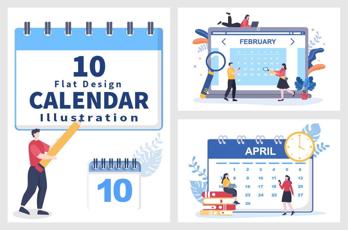 Calendar for Planning Work or Events Vector Illustration preview.