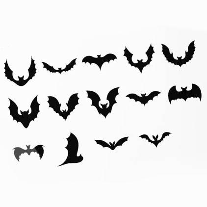 Bats SVG, Bat Bundle SVG, Halloween Bats, Flying Bats svg, 14 Variations preview image.