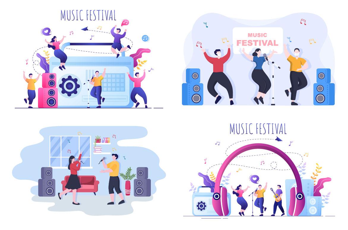 Music Festival Illustrations.