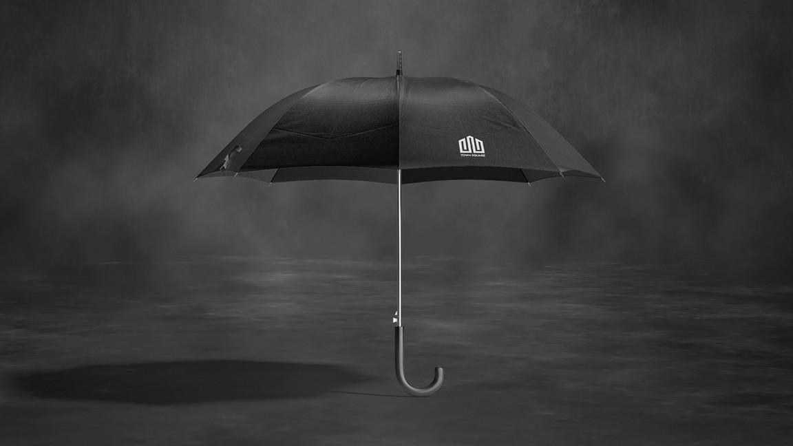 black Umbrella Mockups Bundle preview.