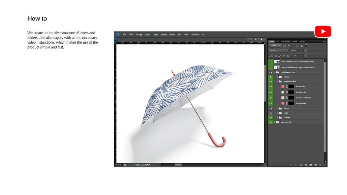Umbrella Mockups Bundle preview.