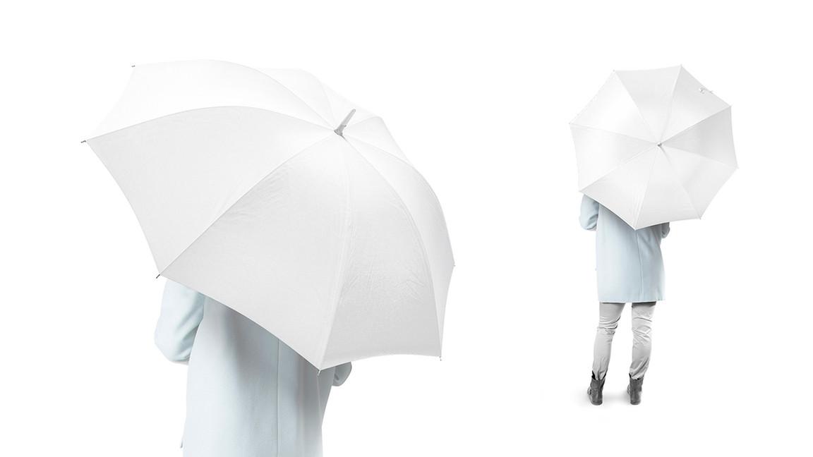 white Umbrella Mockups on white backgrounds.