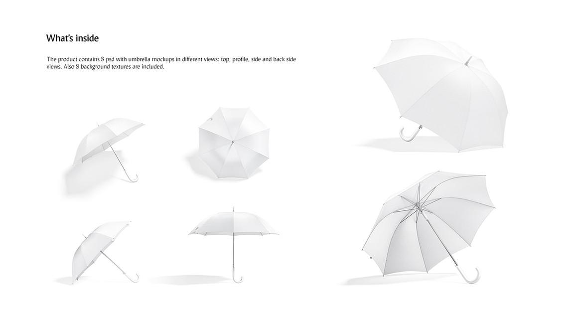 white Umbrella Mockups Bundle previews .